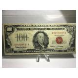 1966 RED SEAL $100 BILL