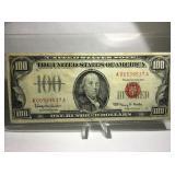 1966 RED SEAL $100 BILL