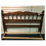 Modern Maple Finish Full Size Bed - no mattress or