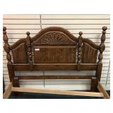 Modern Solid Wood Oak Full Size Bed -