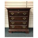 Mahogany 4 Drawer Miniature Chest with