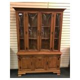 "Maple China Cabinet - 48""w x 16.25""d x 71""h,"