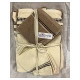 New 6 Piece Towel Set - 2 Wash Cloths/