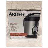 Aroma Rice Cooker, 2 Qt, open box, works