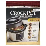 Crock Pot Express Crock Multi-Cooker, open box,