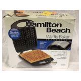 Hamilton Beach Waffle Baker, open box, works