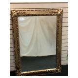 Modern Decorator Mirror in Gilded Frame,