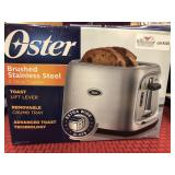 Oster Brushed Stainless Steel 2 SliceToaster,