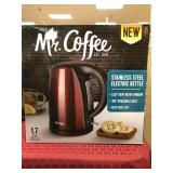 Mr. Coffee Stainless Steel Electric Kettle,