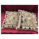 2 Large Tapistry Throw Pillows