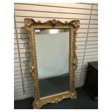 "Decorator Mirror in Gilded Frame, 58"" x 34"""