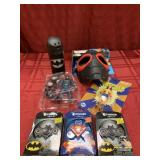 7 Piece - Spiderman Mask, 3 Spinners (2 Batman &