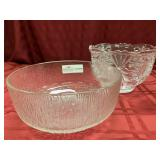 "2 Pattern Glass Bowls, 8.5""d x 5.75""h, 9.5"""