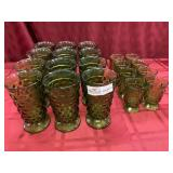 20 Piece Avacado Whitehall Glassware -