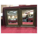 "2 Matching Decorator Mirrors 17"" x 21"","