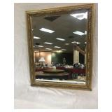 "Decorator Mirror in Gilded Frame, 26""w x 32""h"