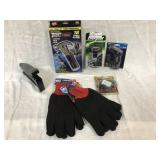 7 Items - 2 Pair of Jersey Gloves; Stanley