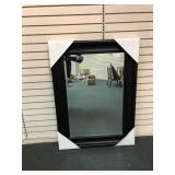 "Black Framed Decorator Mirror, 45"" x 33"""