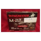 Winchester 22 caliber rounds, 1000 long rifle