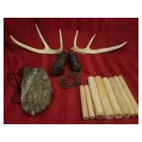 Antler Rattle and real antler set