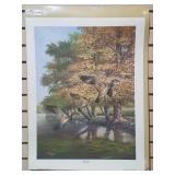 """Print by Ray Harm """"wood Duck"""", artist signed and"""
