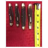 4 pocket knives, Case XX 2 blade jack, Case XX