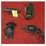 2 Pistols and holsters, Phoenix Arms 25 cal model