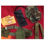 Hunting items, US canteen and Ammo belt, 2 camo
