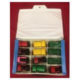 Toy Diecast items. 12 matchbox train cars in