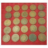 25 Indian head pennies
