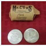 20 1964 Kennedy half dollars