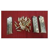 Three 38 auto clips with 26 rounds