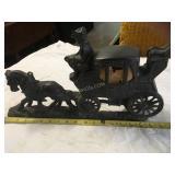 cast iron horse carriage light