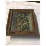 Tramp art frame from memorial 1800s