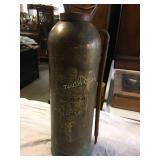 brass fire extinguisher, as found