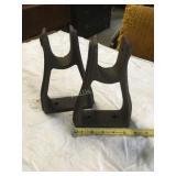 two boat oar holders  cast iron