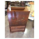 old television cabinet, great for LP storage