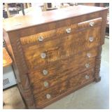Canadiana Burled birds eye maple dresser