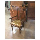 fancy oak dining room armchair.