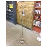 Standing lamp, chrome, with foot switch