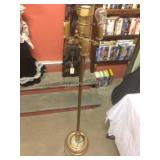 standing brass coloured lamp