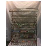 OLD store candy display rack, all metal