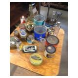 LOT, old tins of various kinds, and bottles