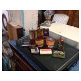 LOT various tins including old Singer oil.
