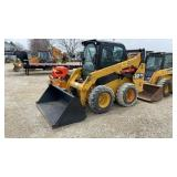 "Cat 242D Wheel Skid Loader w/60"" Bucket"