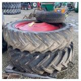 (2) 15.5-38 Tires & 1 Addtl Tire