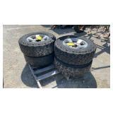 Aluminum Dodge 8 lug wheels and tires