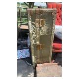 Antique World War II foot locker