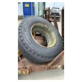 (2) 15x22.5 Front Tires & Wheels