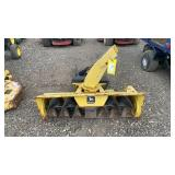 John Deere snow blower with mounting bracket